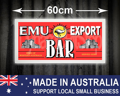 Illuminated Emu Export Bar Sign