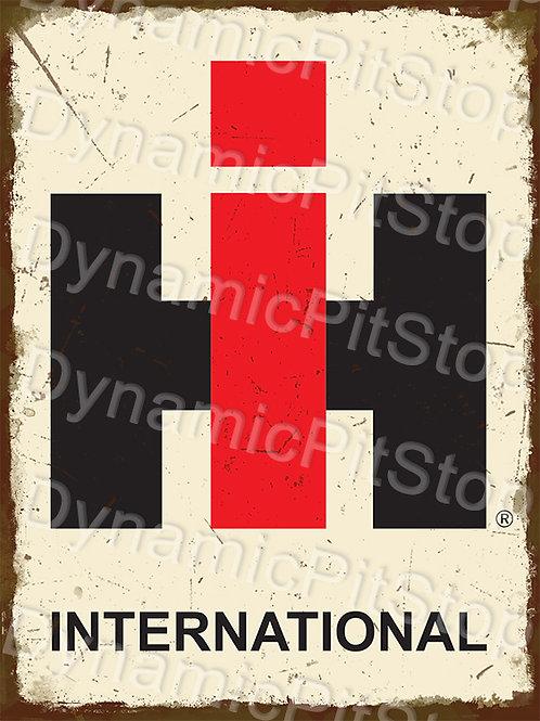 30x40cm International Trucks Logo Rustic Decal or Tin Sign