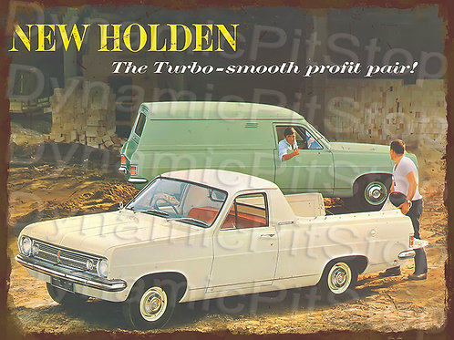 40x30cm EH Holden Van Ute Rustic Decal or Tin Sign