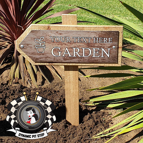 Custom Garden Sign - Arrow