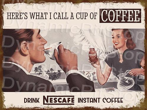 40x30cm Nescafe Coffee Rustic Decal or Tin Sign