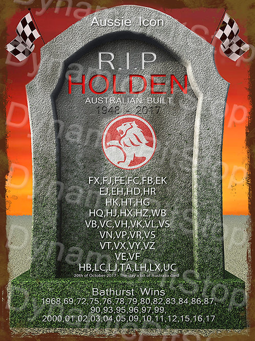30x40cm Holden RIP Rustic Decal or Tin Sign