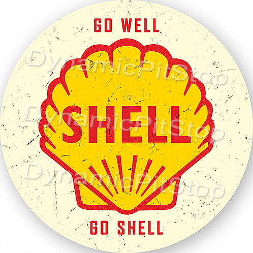 60cm Shell Logo Round Tin Sign