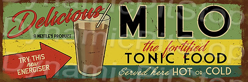 60x20cm Milo Rustic Decal or Tin Sign