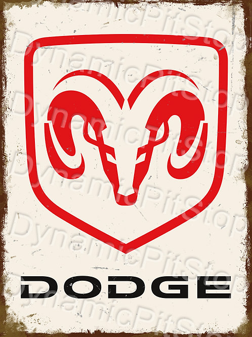 30x40cm Dodge Ram Logo Rustic Decal or Tin Sign