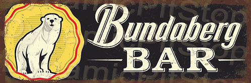 60x20cm Bundaberg Bar Rustic Decal or Tin Sign