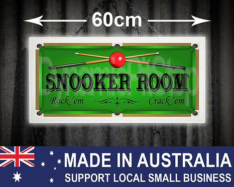 Illuminated Snooker Room Sign