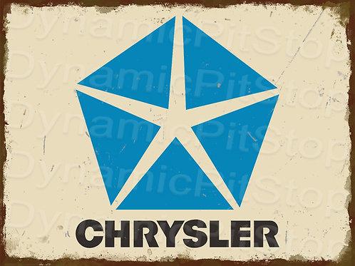 40x30cm Chrysler Logo Badge Rustic Decal or Tin Sign