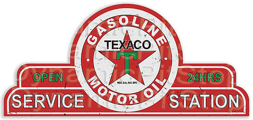 65x30cm Texaco Service Station Shield Tin Sign