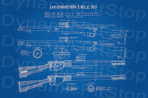60x40cm Lee Enfield Rifle Decal or Tin Sign