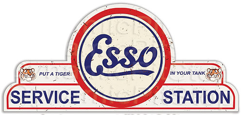65x30cm Esso Service Station Shield Tin Sign