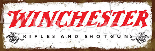 60x20cm Winchester Logo Rustic Decal or Tin Sign