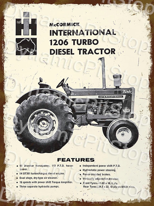 30x40cm International McCormick 1206 Tractor Rustic Decal or Tin Sign