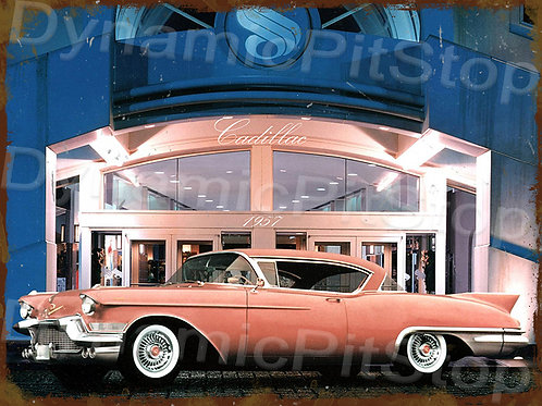 40x30cm Cadillac 1957 Rustic Decal or Tin Sign
