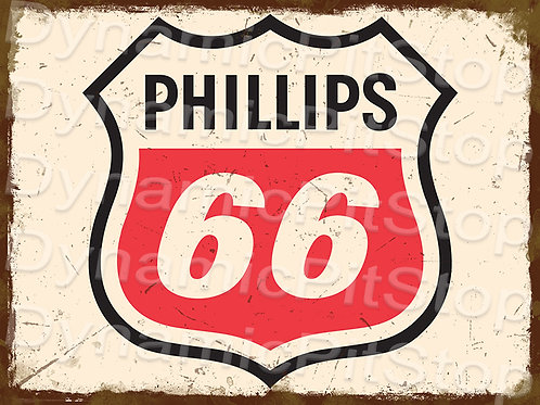 40x30cm Phillips 66 Logo Rustic Decal or Tin Sign