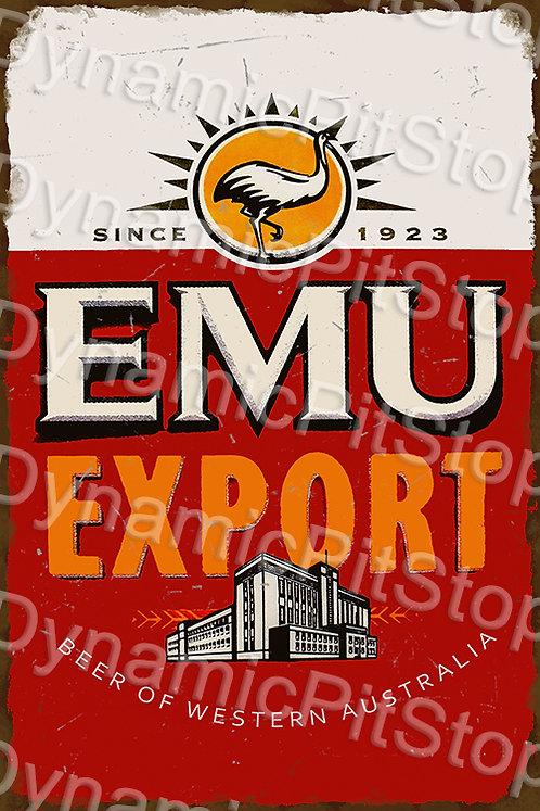HUGE 80x120cm Emu Export Rustic  Sign