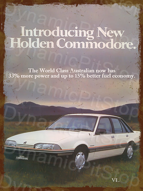 30x40cm Holden Commodore VL Rustic Decal or Tin Sign