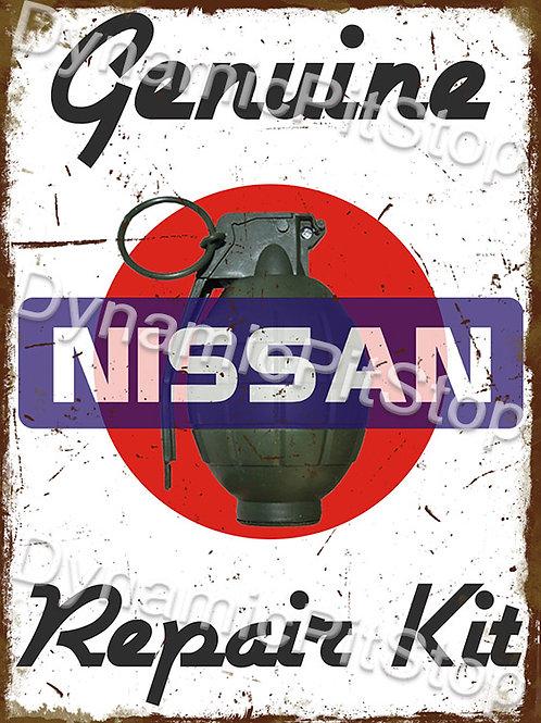 30x40cm Nissan Repair Kit Funny Rustic Decal or Tin Sign