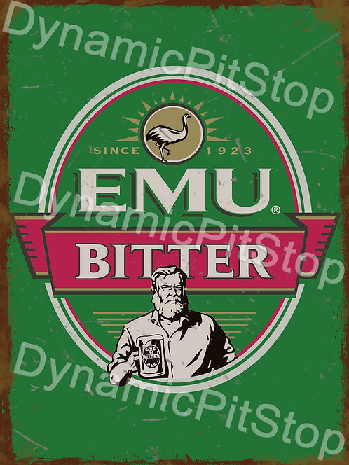 30x40cm Emu Bitter Rustic Decal or Tin Sign
