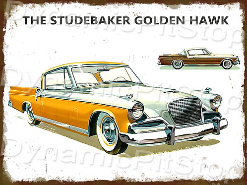 40x30cm Studebaker Golden Hawk Rustic Decal or Tin Sign