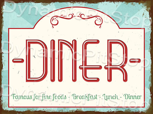 40x30cm Diner Rustic Decal or Tin Sign