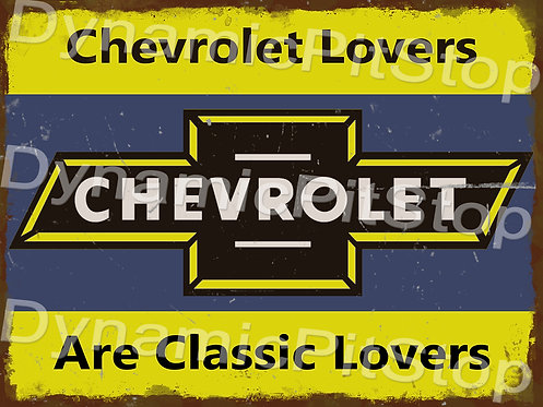 40x30cm Chevrolet Classic Lovers Rustic Decal or Tin Sign