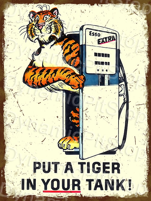 30x40cm Esso Tiger Decal or Tin Sign