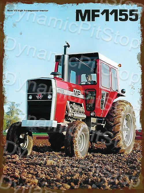 30x40cm Massey Ferguson MF1155 Tractor Rustic Decal or Tin Sign