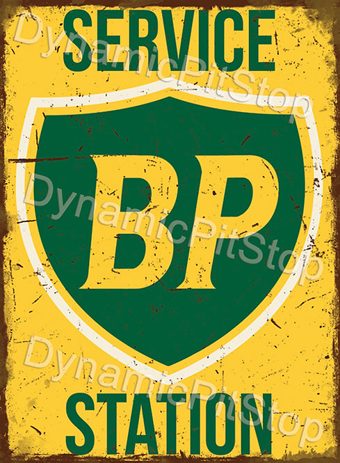 30x40cm BP Service Station Rustic Decal or Tin Sign