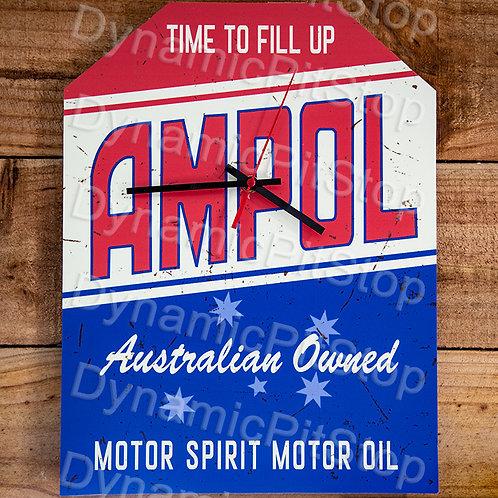 30cm x 40cm Ampol Rustic Clock