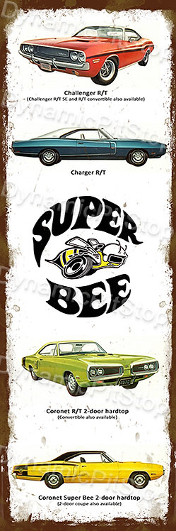 20x60cm Dodge Super Bee Cars Rustic Decal or Tin Sign