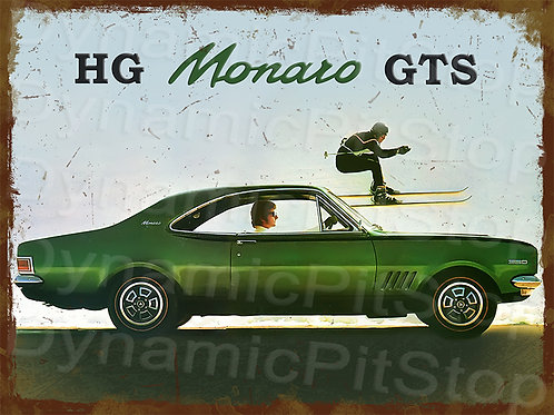 40x30cm Holden HG Monaro GTS Rustic Decal or Tin Sign