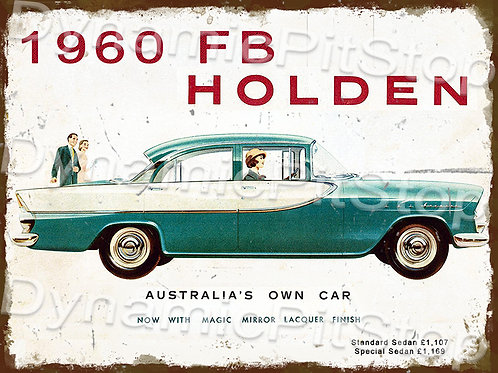 40x30cm Holden 1960 FB Rustic Decal or Tin Sign
