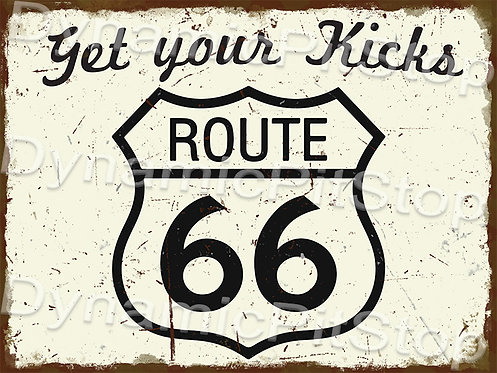 40x30cm Route 66 Rustic Decal or Tin Sign