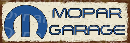 60x20cm Mopar Garage Rustic Decal or Tin Sign