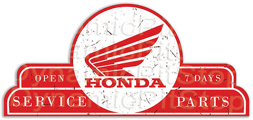 65x30cm Honda Service Parts Shield Tin Sign