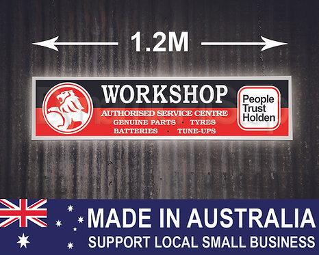 Large Illuminated Holden Workshop Sign