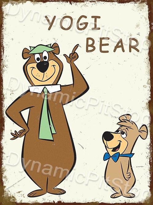 30x40cm Yogi Bear Rustic Decal or Tin Sign