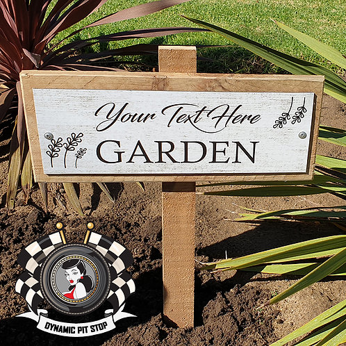 Custom Garden Sign - Classic