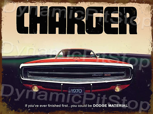 40x30cm Dodge Charger Rustic Decal or Tin Sign