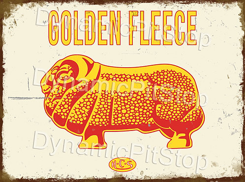 40x30cm Golden Fleece Rustic Decal or Tin Sign
