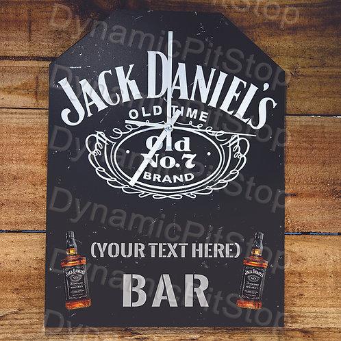 30cm x 40cm Jack Daniels Custom/ Personalised Rustic Clock