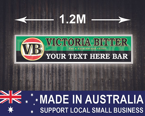Large Illuminated Victoria Bitter Custom Bar Sign