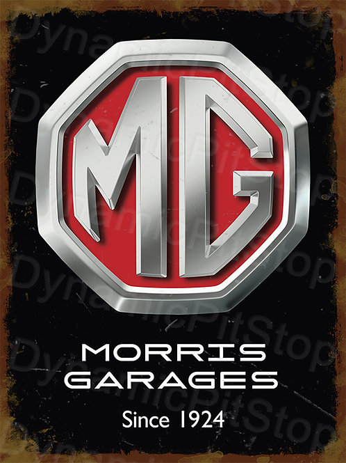 30x40cm MG Morris Garages Logo Badge Rustic Decal or Tin Sign