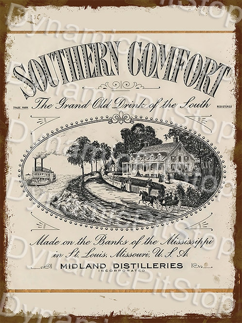 30x40cm Southern Comfort Whiskey Rustic Decal or Tin Sign