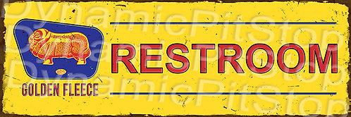 60x20cm Golden Fleece Restroom Rustic Decal or Tin Sign
