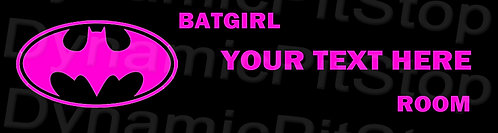 30x8cm Batgirl Personalised / Custom Room Decal or Tin Sign