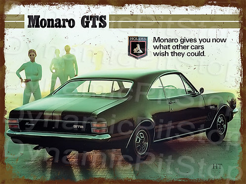40x30cm Holden 1969 Monaro GTS Rustic Decal or Tin Sign