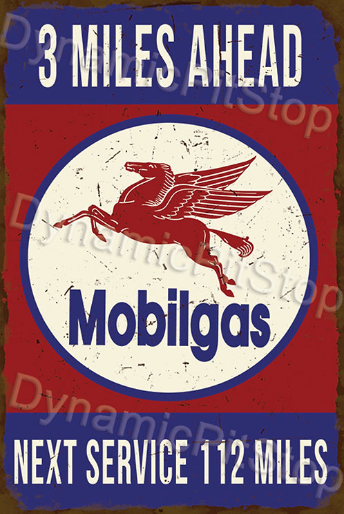 40x60cm Mobilgas Next Service Rustic Decal or Tin Sign