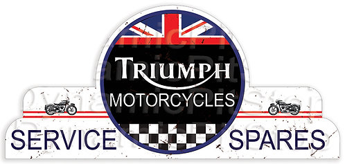 65x30cm Triumph Motorcycles Shield Tin Sign